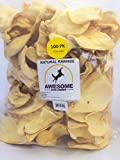 100% Awesome Dog Chews All Natural Cow Ears 100 Count - FDA / USDA Inspected Through a Registered FDA Plant