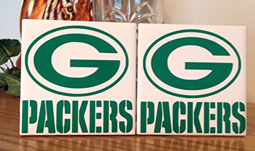 Green Bay Packers ceramic tile coasters (set of (Green Bay Packers Coasters)