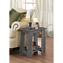 ACME Furniture 83283 Falan Side Table, Dark Gray