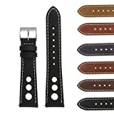 DASSARI Carrera Distressed Leather Quick Release GT Rally Racing Watch Band Strap 18mm 19mm 20mm 21mm 22mm 24mm