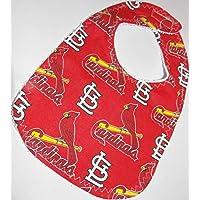 Handmade Baby Bib From Licensed St. Louis Cardinals Baseball Fabric