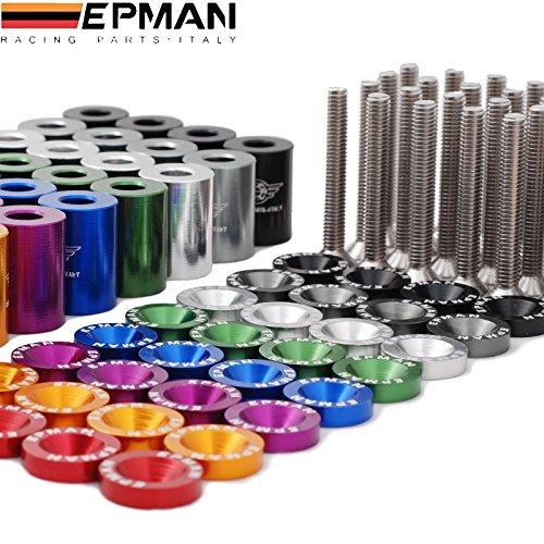 Black EPMAN 1 Billet Hood Vent Spacer Riser Kits For All Turbo//Engine//Motor Swap 6MM