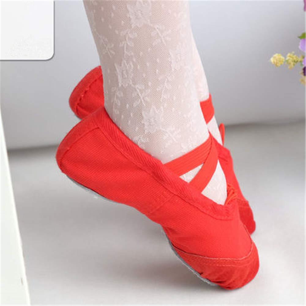 A-LING Ballet Slipper Shoes Satin Ribbons Ballerinas Dance Flats for Girls