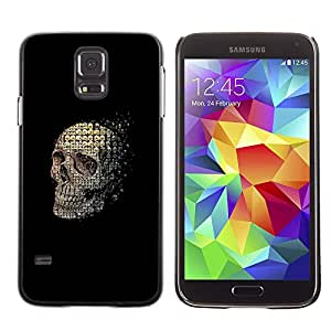 TikTakTok Hard Protective Back Case Skin Cover for Samsung Galaxy S5 SM-G900 - Skull Abstract Meaning Black Death