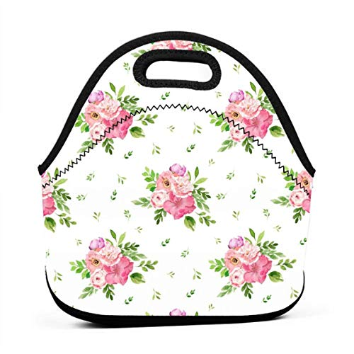 (4 BEST FRIEND FLORALS_1441 Multifunctional Portable Bento Bag,Lunch Box Bag For School Travel Work Office )