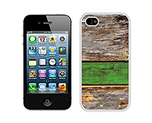Old Green Wood Texture,iphone 4s Case Clear ,Cute Iphone 4s Cases White Cover