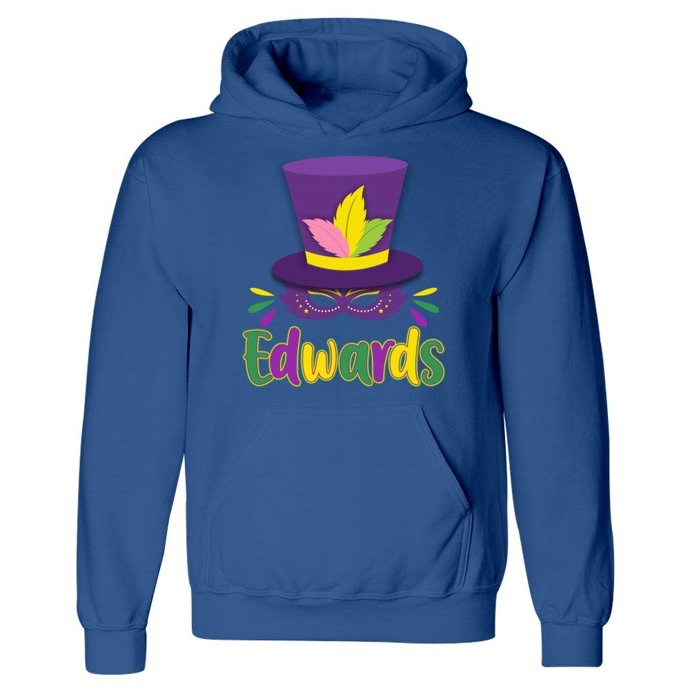 Amazing Fan Store Mardi Gras Theme Personalized Name Gift for Edwards Hoodie