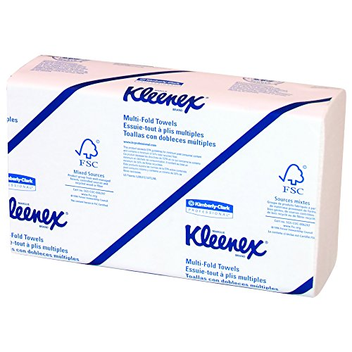 Kleenex Multifold Paper Towels (02046), White, 8 Packs / Convenience Case, 150 (Kimberly Clark Hand Towel)