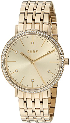 DKNY Women's 'Minetta' Quartz and Stainless-Steel-Plated Casual Watch, Color:Gold-Toned (Model: NY2607)