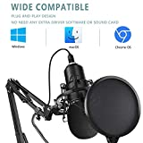 2021 Upgraded USB Microphone for Computer, Mic for