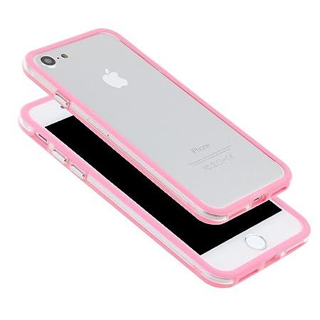 42864823fe Amazon | SZMM ?iPhone7電話エッジプロテクター カバー 耐衝撃 PCゴムカバー ケース フレーム バンパー ピンク | ケース・ カバー 通販