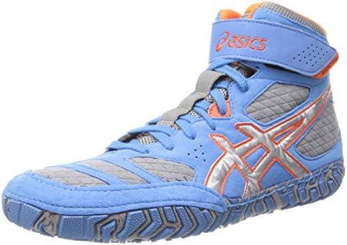 orange asics wrestling shoes