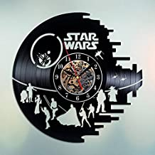 star wars decor HANDMADE Vinyl Record Wall Clock – Perfect gifts for birthday wedding anniversary valentine's mother's father's day - Gift ideas for men and women him and her