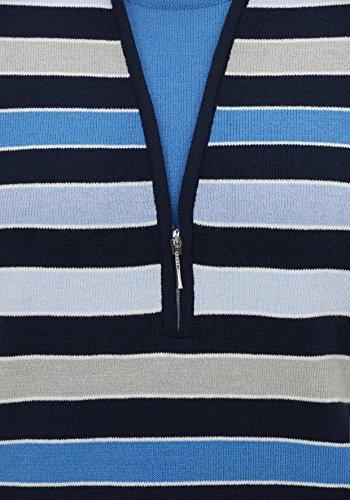 Rabe Damen Pullover mit Blockringeln und 2 in 1 Design