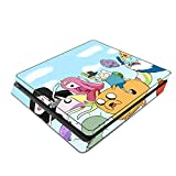 Decorative Video Game Skin Decal Cover Sticker for Sony PlayStation 4 Slim Console PS4 - Adventure Time Jake Finn Fionna Marceline Ice King