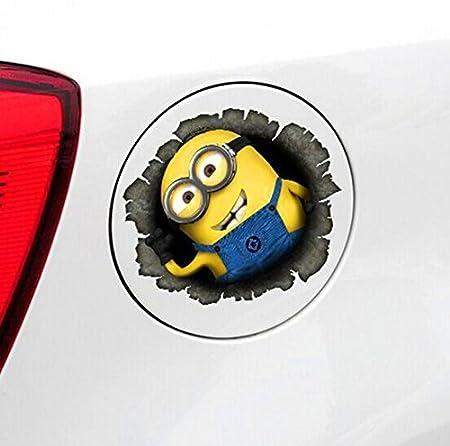 Minions 01 ADB Inc Despicable Me Minions 3d Cartoon Waterproof Stickers for Car by ADBINC