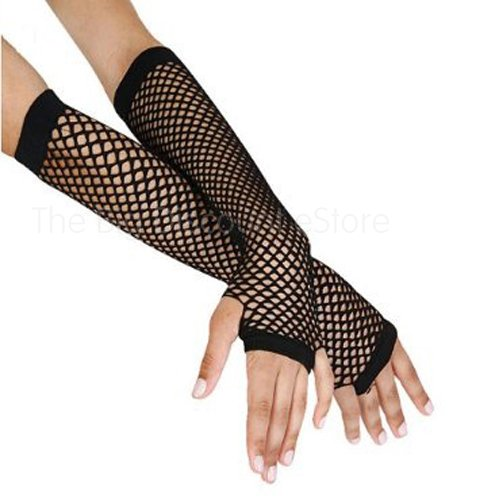 LONG FISHNET GLOVES PARTY FANCY DRESS TUTU (Black) Underground Kulture