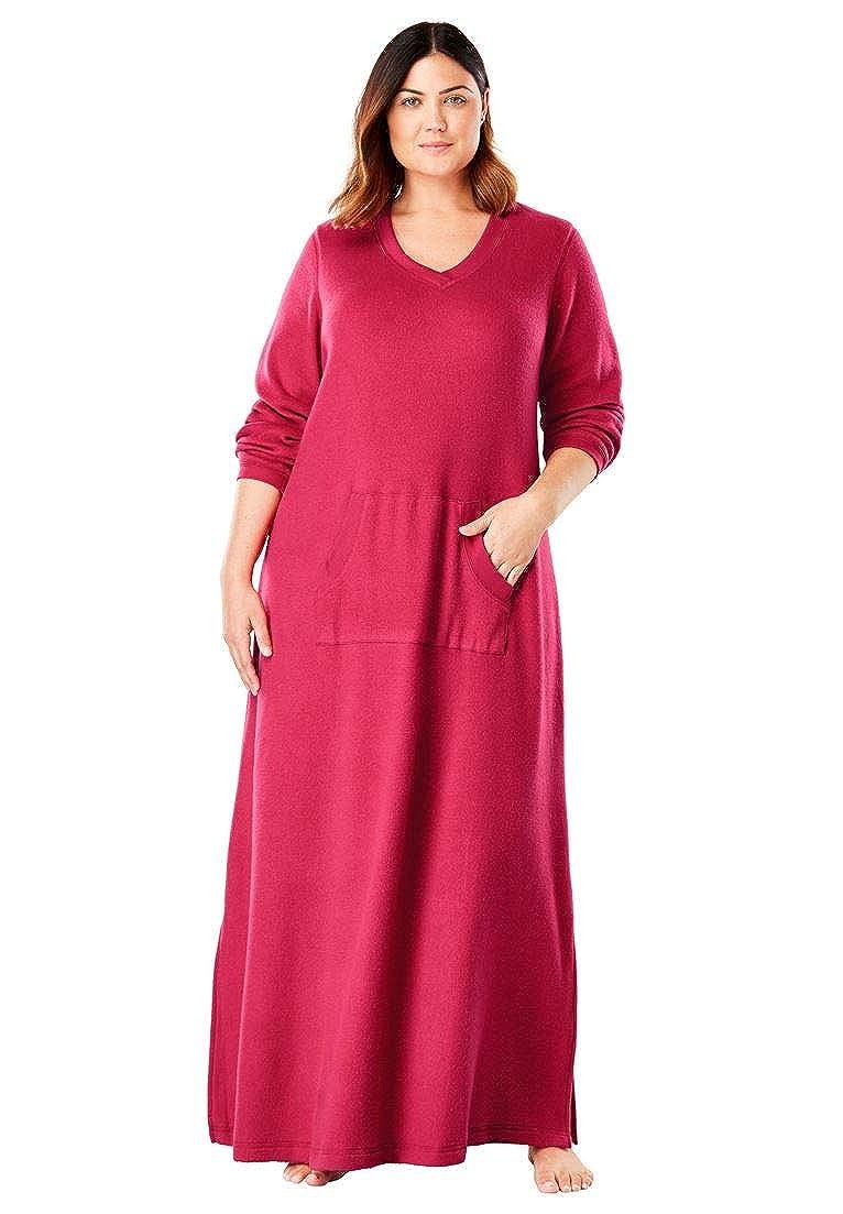 a1aee2d237 Dreams   Co. Women s Plus Size Long Sherpa Lounger at Amazon Women s ...