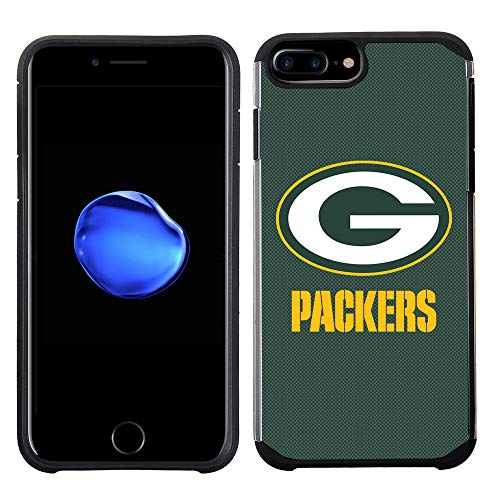 Plus Bay - Prime Brands Group Cell Phone Case for Apple iPhone 8 Plus/iPhone 7 Plus/iPhone 6S Plus/iPhone 6 Plus - NFL Licensed Green Bay Packers Textured Solid Color