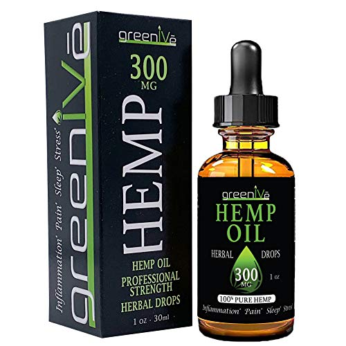 GreenIVe - Hemp Oil - Best Quality Hemp Plant Oil - USA farmed and Bottled - Exclusively on Amazon (1 Ounce 300mg, Natural)