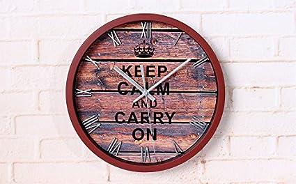 Pingofm La Segunda Guerra Mundial que motiva póster stereo reloj de pared retro metal continental digital Reloj de pared Pared Sala de Café Bar Relojes de ...