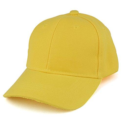 Trendy Apparel Shop Plain Infants Size Structured Adjustable Baseball Cap - Yellow]()