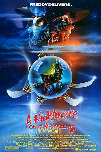 PremiumPrints - A Nightmare On Elm Street 5 The Dream Child Movie Poster - XFIL808 Premium Canvas 11