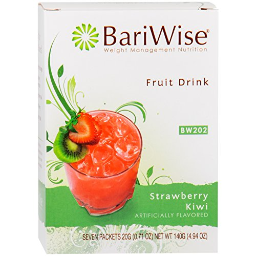BariWise High Protein Powder Fruit Drink (15g Protein) / Low-Carb Diet Drinks - Strawberry Kiwi (7 Servings/Box) - Fat Free, Low Carb, Low Calorie, Sugar Free
