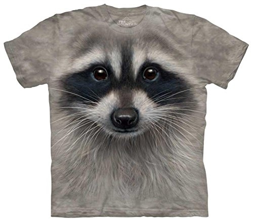 Raccoon Face T-Shirt Size L
