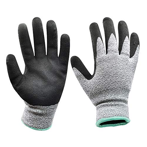 (Cold Weather Work Gloves with Thermal Insualting Fleece lining and Power Grip Durable Nitrile Coated Palm 2 Pairs - Large)