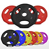 Olympic Rubber Disc Weight Plates EZ Bar Barbell Weights Plate Home Fitness Gym 50mm Hole (2x1.25kg)