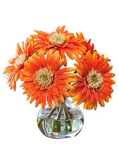 Gerbera Silk Flower Arrangement - Orange