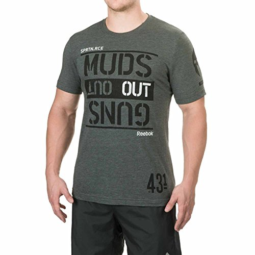 (Mens Reebok Spartan Race Muds Out T-Shirt Short Sleeve Sage (X-Large))