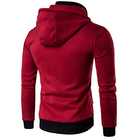 Amazon.com: UOFOCO Fashion Warm Coats Casual Zipper Thermal Hoodie Mens Autumn Winter Tops: Clothing