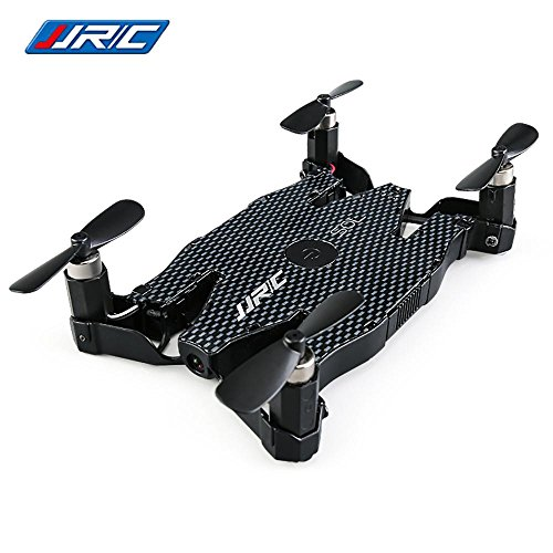JJRC H49WH 6-Axis Mini Drone Gyro WIFI FPV RC Drone with Camera 720P Quadcopter Foldable G-sensor RC Selfie Pocket Drone (Black)