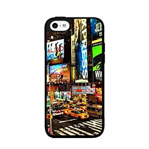 Times Square at Night - TPU RUBBER SILICONE Phone Case Back Cover iPhone 5 5s