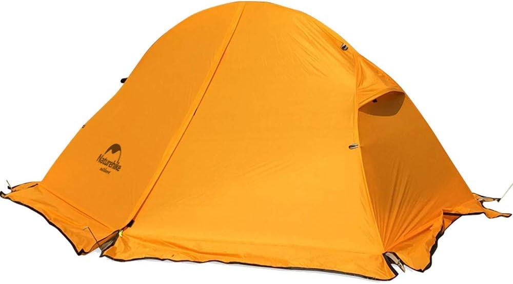 NatureHike1人用ワンタッチテントアウトドアキャンピングテント超軽量テント オレンジ(オレンジ)+スカート付き