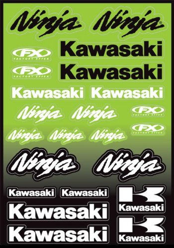 - Factory Effex Kawasaki Ninja Decal Sheet 23 Stickers In All