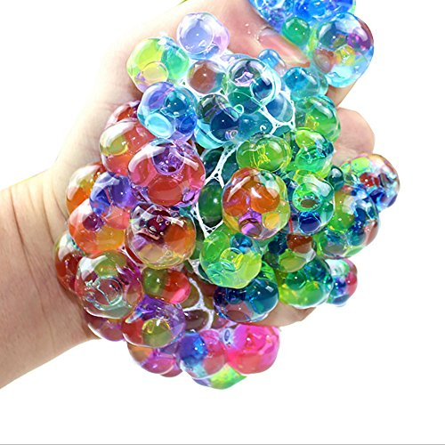 (Mikilon Mesh Beads Balls - Squishy Fidget Balls Stress Reliever Party Favors)