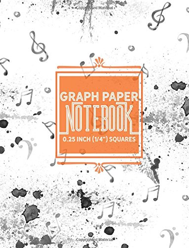 Read Online Graph Paper Notebook: 1/4 Inch Squares: Blank Graphing Paper with No Border - Square Grid Notebook, Great for Mathematics, Formulas, Sums & Drawing ... 1/4 Inch Squares No Border) (Volume 36) pdf