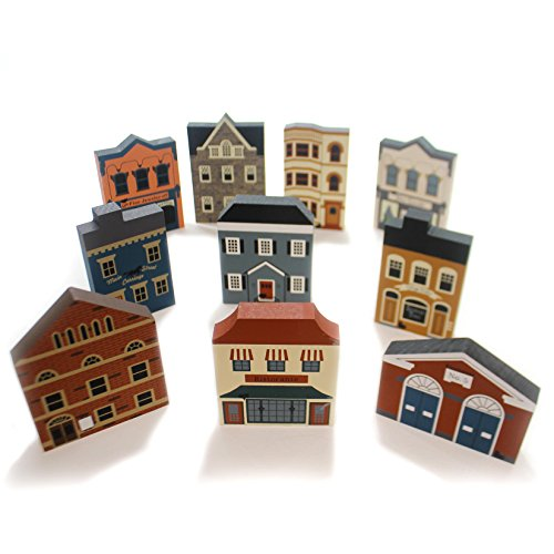 Cats Meow Village SERIES III SET / 10 Wood Complete Pine Retired Series Iii