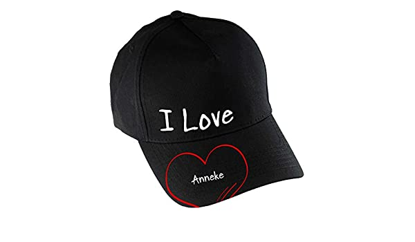 Gorra de Baseball Modern I Love Anneke negro: Amazon.es: Deportes y aire libre