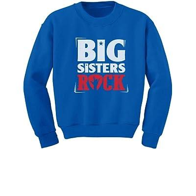 Tstars TeeStars - Girls Big Sisters Rock Best Siblings Gift Toddler/Kids Sweatshirts