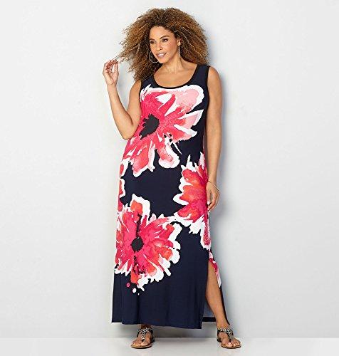 AVENUE-Womens-Mod-Poppy-Maxi-Dress