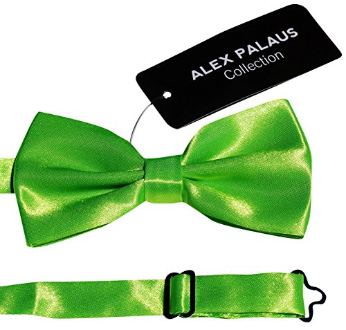 Stylish Designer Bow Ties - Pre Tied, Adjustable Unisex Bowtie for Men, Women, Boys and Girls by Alex Palaus Collection (TM) (Neon -