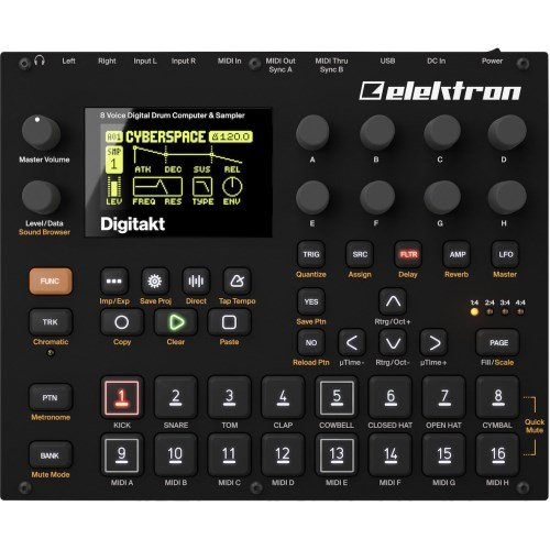 Elektron Digitakt 8-Voice Digital Drum Computer and Sampler