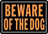 "Hy-Ko Products 838 Beware of Dog Aluminum Sign 9.25"" x 14""  Orange/Black, 1 Piece: more info"