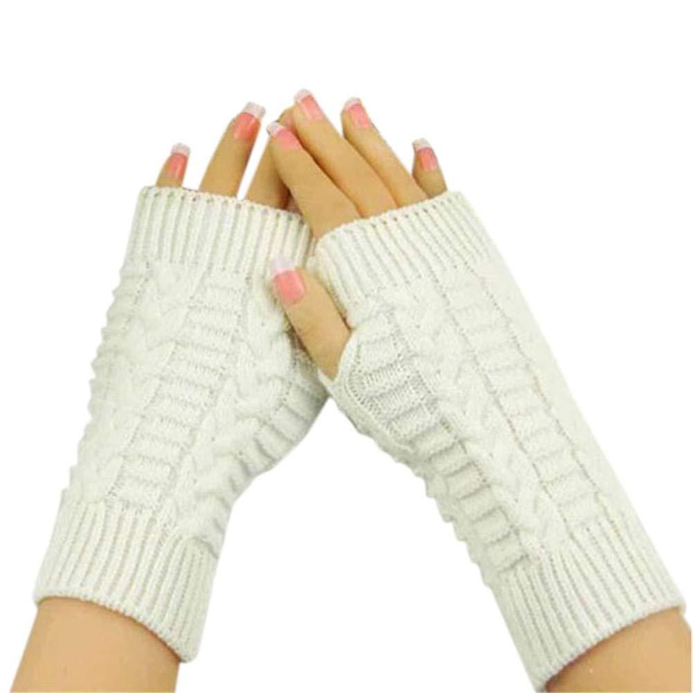 ENNHUO /Gestrickte Handschuhe Mode Arm Frauen Fingerless Unisex Winter warme Handschuhe weiche Frauen Fitness Handschuhe