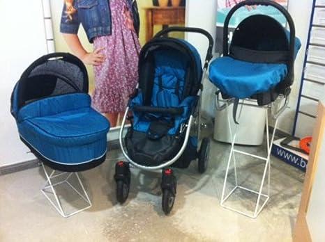 SOPORTE CARROS de 3 PIEZAS DE HIERRO LACADO PARA TIENDAS PROFESIONALES: Amazon.es: Bebé
