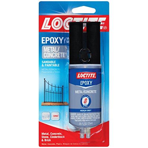 Loctite Metal and Concrete Epoxy Syringe, 25-Millileters (Solvent Cement Kit)